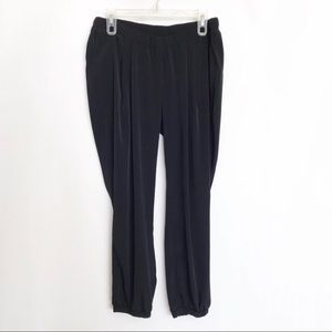 ASOS Black Silky Joggers -pleated front - Size 8